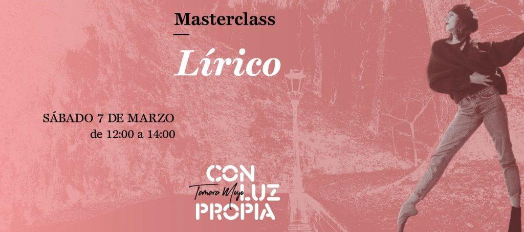 Masterclass lírico el 7 de marzo de 2020